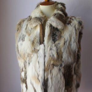 Adrienne Landau Rabbit Fur Vest Large